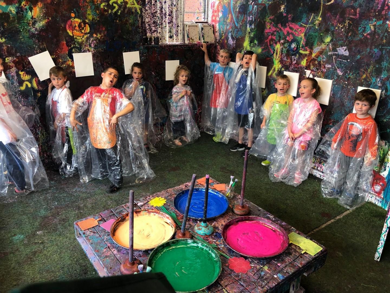 Slime & Art Splatter Class
